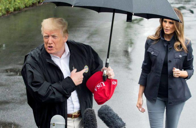 El paraguas y otros desplantes de Donald Trump a Melania