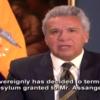 El vídeo de tres minutos con el que Lenín Moreno explica por qué retira el asilo a Assange
